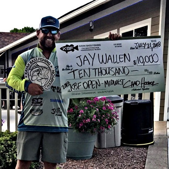 Wallen grabs $10,000 purse in Kayak Bass Fishing's Midwest Open out of LaCrosse, Wisconsin!